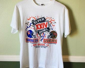 1990 Super Bowl 24 San Francisco 49ers Denver Broncos BRAND NEW CONDITION