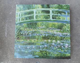 Vintage 1991 Fine Art Jigsaw Puzzle 500 pc Claude Monet Waterlilies Japanese Bridge