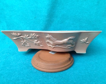 General Ceramics Pottery Vally Wieselthier Large Rectangular Bowl With Horse 2 Chips