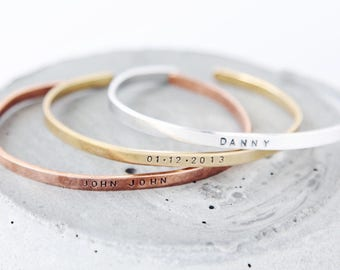 Personalized Stacking Cuffs