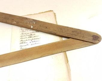 Folding Measure Ruler 90 degrees hook,woode, Bar barware mencave decoration, French vintage, antique, Tape Measure Ruler Wood Carpenter