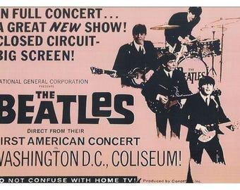 The Beatles Washington DC 1964 Concert Poster - Ships FREE