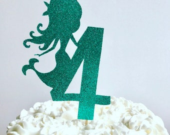Mermaid age cake topper/ under the sea age cake topper / mermaid cake topper / under the sea cake topper