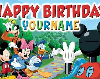 Mickey Mouse Clubhouse custom Birthday Banner