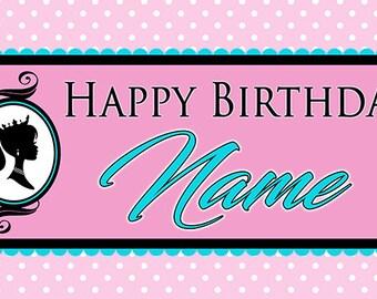 Vintage Barbie Birthday Banner