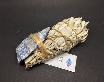Smudge Kit California White Sage & Blue Quartz - WSBLUE03