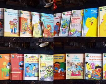 19 Sesame Street Hardcover Children's Books - Club du Livre Sesame - French Language - Set of 19 - Printed in the USA