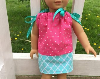 "18"" doll pillowcase dress"