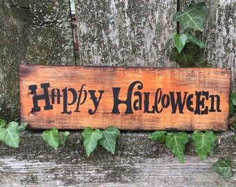 Rustic Happy Halloween Sign