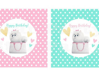 Gidget cupcake toppers, toppers, centerpiece, Kid's Birthday Party