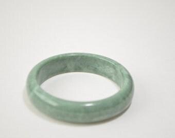 Vintage Genuine Green Jade Jadeite Bangle Bracelet 58 mm