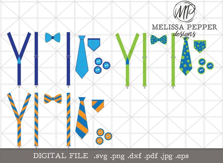 Mother S Day Suspenders Tie Svg Spring Baby Suspenders