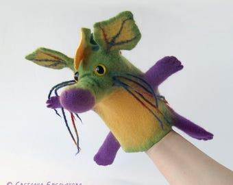 The Flower Dragon hand puppet