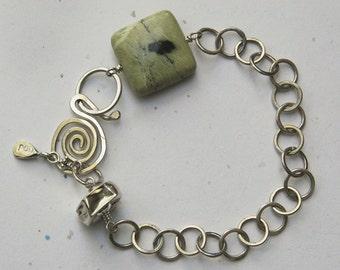 Green Jasper Bracelet