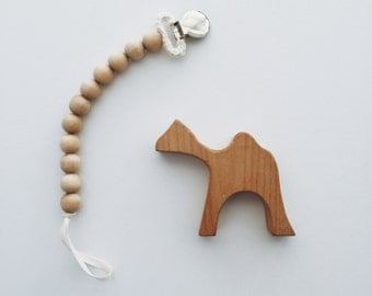 SALE - Simply Wooden Pacifier Clip