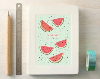 Personalised Watermelons Notebook