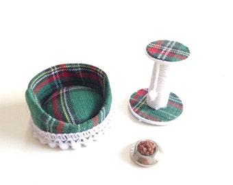 Miniature set for cat/miniature pet accessories/dollhouse accessories/dollhouse pet/dollhouse cat/miniature accessories