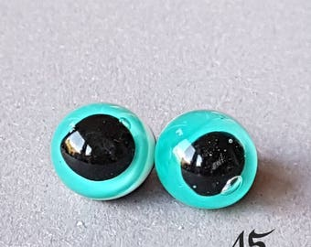 Glass eyes, 9 mm, fantasy eyes, eyes, Alienaugen, squid eyes, fish eyes