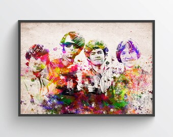 The Monkees In Color Poster, Home Decor, Gift Idea