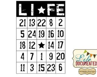 Unity Stamps, Life Bingo