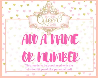 Add a name or number