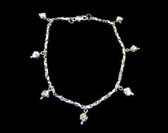 Womens Vintage Estate 18K White Gold Bracelet 7.2g E3019