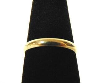 Vintage Estate 10k Yellow Gold Reed & Barton Wedding Band Ring 1.6g #E3124