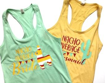 Nacho Average Bride Tank Top, Mexican Bride Tank, Fiesta Bride, Bride Fiesta Tank, Bride Fiesta Tee, Fiesta Bachelorette Tank, Piñata Tank,