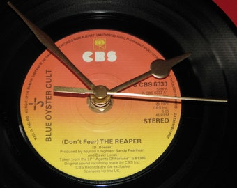 """Blue Oyster Cult Don't fear the reaper 7"""" vinyl record clock"""