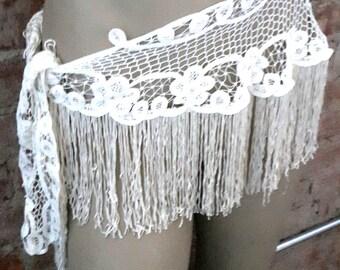 Lace Boho Gypsy Fringe Hip scarf