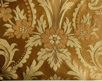 Shades of Gold Damask - Upholstery Fabricby The Yard