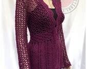 Floral Lace Cardigan - Crochet PDF Pattern - Sizes S, M, L, XL, 2XL, 3XL