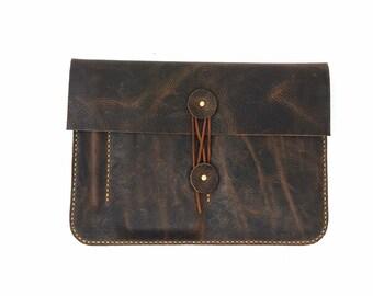 MacBook 12 inch Leather Case MacBook 12 inch Sleeve Macbook Pro 13 Case 15 inch Macbook Pro Case Leather Envelope Clutch, 1W558