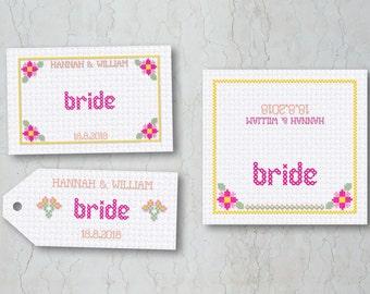 Cross Stitch Lace Place Cards