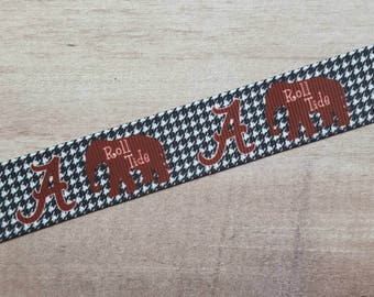 "7/8"" Ribbon by the Yard - Alabama Roll Tide"