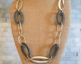 Buffalo Horn chain link necklace