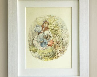 "BEATRIX POTTER Print, New Baby/Birth, Nursery Picture Gift, *UNFRAMED* Lovely Birth or Christening Gift, 10""x8"", Mrs Tiggywinkle"