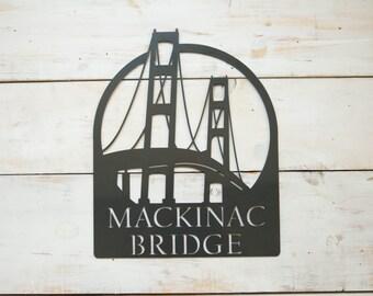 Mackinac Bridge Steel Wall Decor Pre-Order (3-4 weeks shipping)