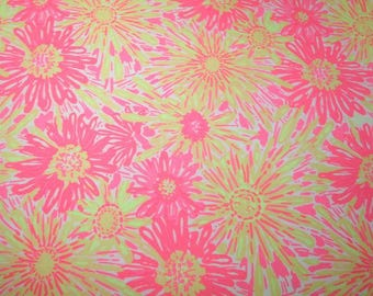 Sunkissed Glow cotton poplin  9 X 9,  9 X 18 or 18 X 18  inches ~Lilly Pulitzer