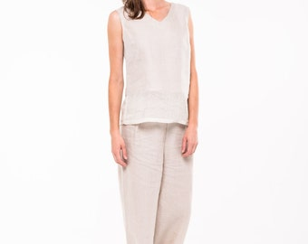 Casual natural linen top, M size. Only one sample, perefect for Summer.