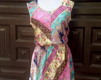 Dress ethnic printed fabric