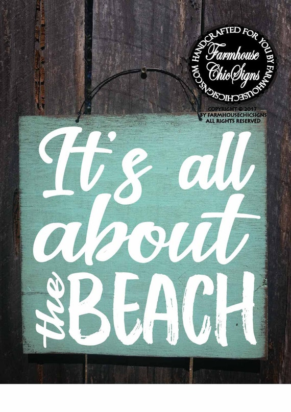 Mini It's All About The Beach Sign