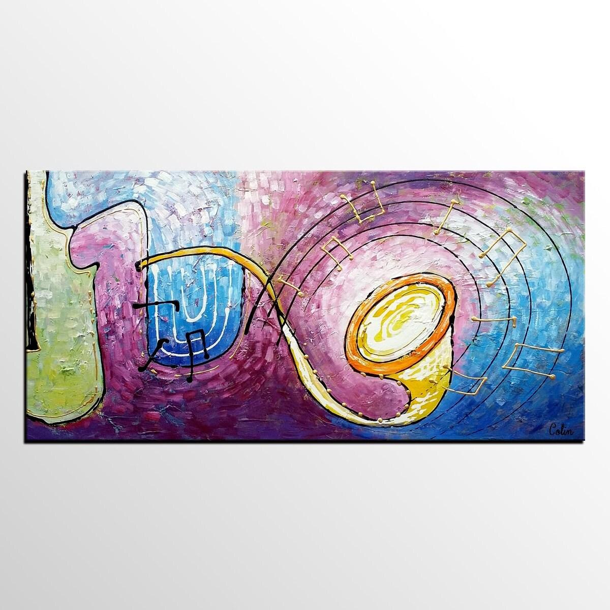 Abstrakte kunst leinwand malerei violine malerei leinwand - Leinwand malerei ...