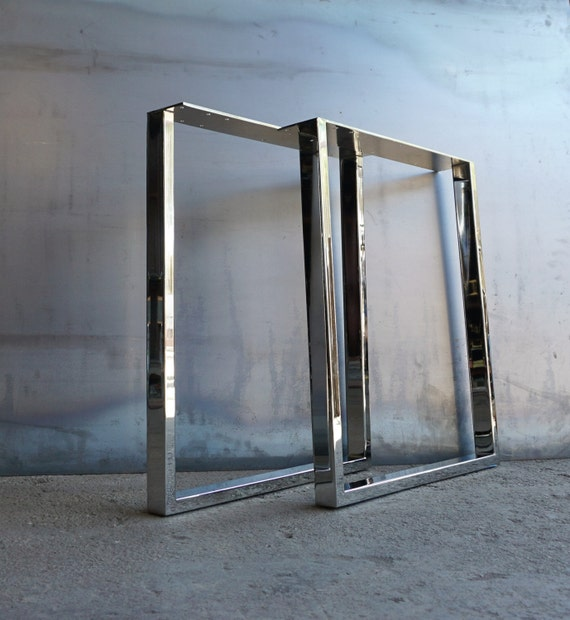 U Shape Chrome table legs