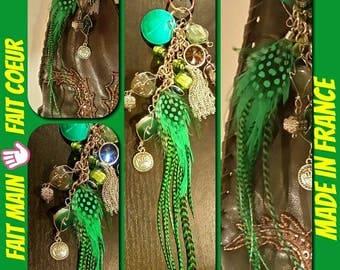 Jewelry bag & Keychain feathers