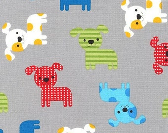 Ann Kelle for Robert Kaufman - Urban Zoologie Puppies Primary (Half metre)