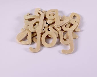 Wooden Lowercase Letter Stencils Small Alphabet Letter Templates Pack of 26