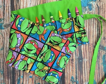 Crayon Roll | Crayon Storage | Kids Art Supplies | Art Storage | Travel Cases | Kids Travel Bags | To Go Bag | Art Rollup | Crayon Organizer