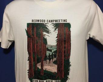 Vintage 1990 Redwoods National Park t shirt fun run *S