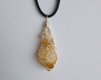 SALE // Citrine // Citrine Necklace // Crystal Jewelry